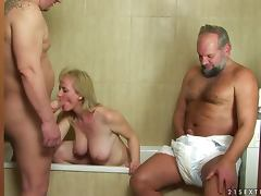 Slutty Monik gets fucked by an old and fat guys porn video