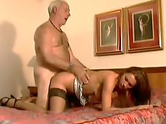 Old Man Shows An Sexy Teen What He's Made Of