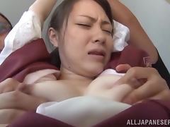 Yuri Hasegawa sucks and rides some guy's dick reluctantly