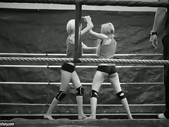 Nude Catfight In Black and White