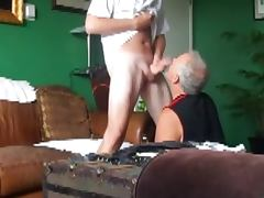 Big Dick Tall Ginger sucked off dirty ass rim