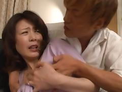 Eriko Miura sucks a cock reluctantly and gets cum on her face