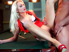 Blonde Victoria Puppy gets fucked on the billiard table