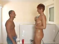 Elisabeth the slutty mature babe gets licked and fucked