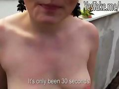 Real amateur redheaded Czech biatch paid for some anal action