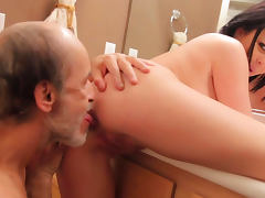Old and Young, Babe, Big Tits, Blowjob, Boobs, Brunette