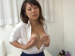 Sexy Asian MILF Swallows His Cock and His Piping Hot Load