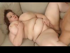 German, BBW, Fucking, German, Sofa, Fat Big Tits