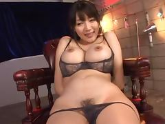 Yuuri Himeno the slutty MILF sucks a cock and gets toyed