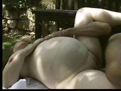 Pregnant German Milf Outdoors Anal