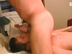 Steamy morning gay fuck of two handsome studs