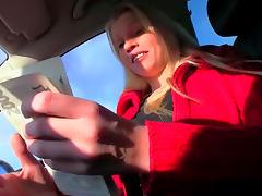 Car, Amateur, Blonde, Blowjob, Boobs, Car
