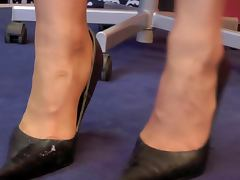 Leather, Cum, German, Heels, Leather