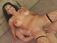 Brunette milf cock sucking and ass drilled