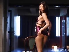Beautiful Asian Yui Tatsumi Riding Cock in Sexy Lingerie and Pantyhose