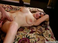 Big breasted leann gets pounded by hunter watson�