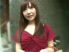 Naughty Japaneses Girl Moe Ohishi Giving an Awesome Blowjob in Public