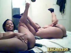 2 Cute Amateur Black Teens Show On Webcam