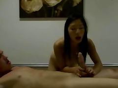 Oriental babe pleasing real client hard
