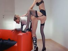 Neverending strap on lesbs action
