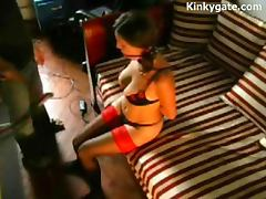 Spanking Submissive milf Olivia at home