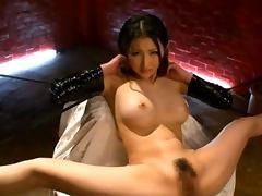 Busty Azumi Mizushima Cums Hard From Creative Sex Machines