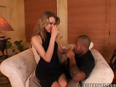Gorgeous Priscilla having hot anal sex with Black guy