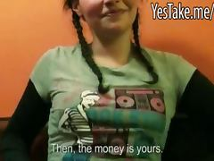 Czech girl Petty Cat flashes her perky tits and asshole ripped