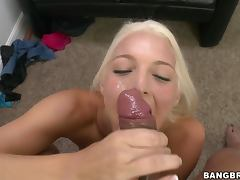 Ejaculate On The Face of a sexy blond siren Maci Lee