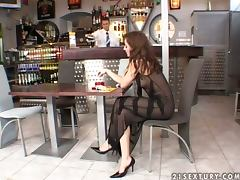 Bar, Bar, Blowjob, Couple, Curvy, Doggystyle