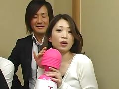 Japanese milf sucks a cock and welcomes it in her throbbing snatch