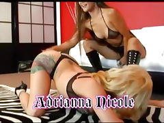 Two Hot Lesbians Play Their Strap On