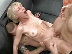 Totally Slutty Granny Loves To Take Young Cocks And Jizz