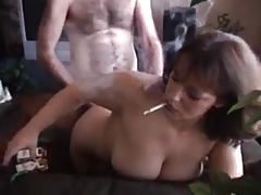 Hot Mature Amateur Smoking Doggy Banged
