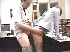 Russian amateur office chick gets pounded by her boss