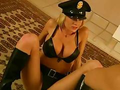 Police, Big Tits, Blonde, Bra, Cop, Costume