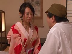 Wakako Yamada the Japanese MILF gets fucked and creampied