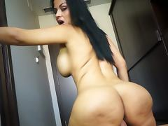 Big booty latina nailed hard in the cunt