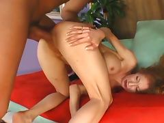 Redhead annie body ravished by black meat