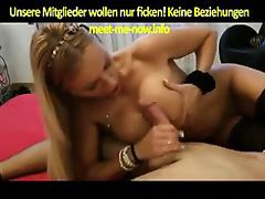 Horny German Blonde gets fucked porn video