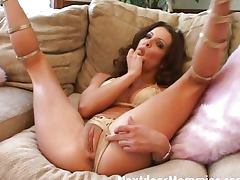 Brunette MILF deepthroats and swallows