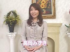 Naughty Mizuki Takaoka gets her bushy pussy drilled