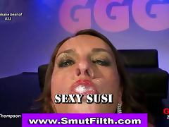 Fetish slut fuck facial bukkake
