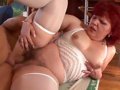 Chubby redhead granny fucked hard