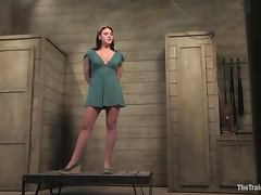 Raina Verene enjoys a weight on her pussy in BDSM clip