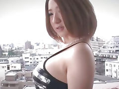 Alice Ozawa gives a japan blowjob and fucks two guys
