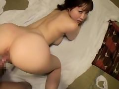 Beautiful Japanese Babe Smiles Sucking Cock and Getting Fucked