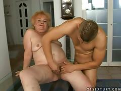 Army grandma bends over for a fresh portion of a cock