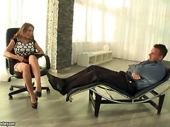 A guy goes to his therapist to get better and gets sex