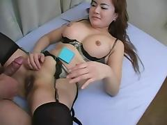 Japanese Babe Trades Her Toys For 2 Cocks